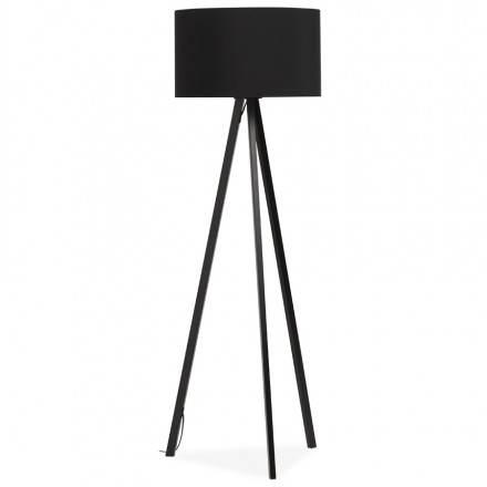 Lampe sur pied de style scandinave TRANI en tissu (noir)