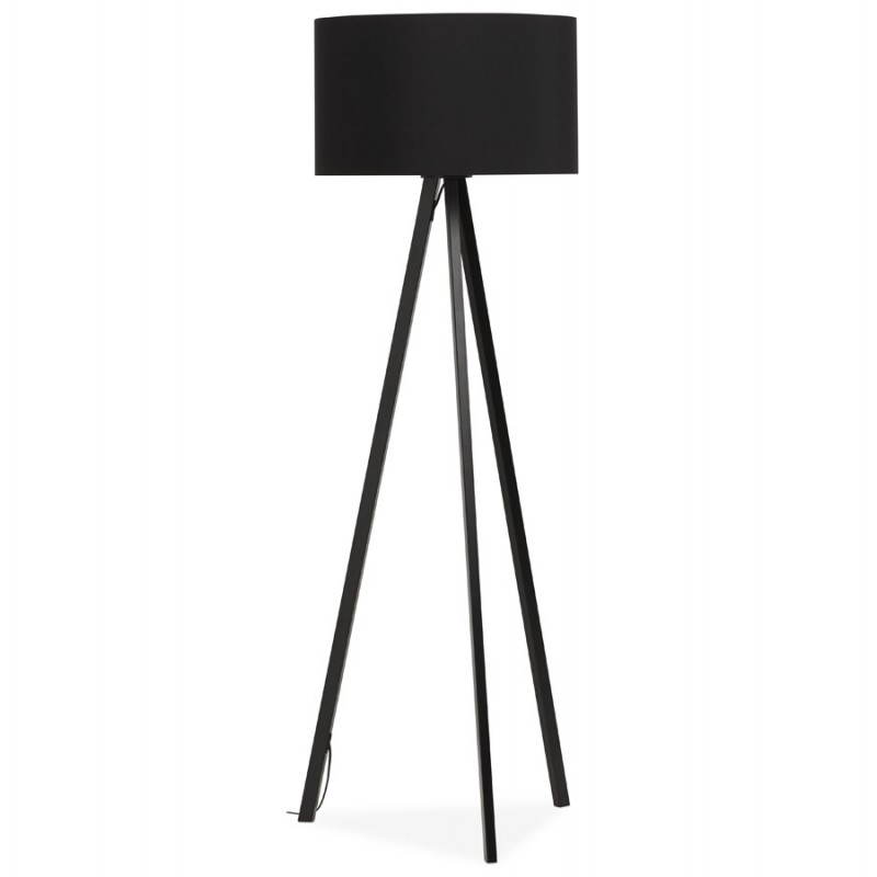 Scandinavian style TRANI (black) fabric floor lamp - image 23056