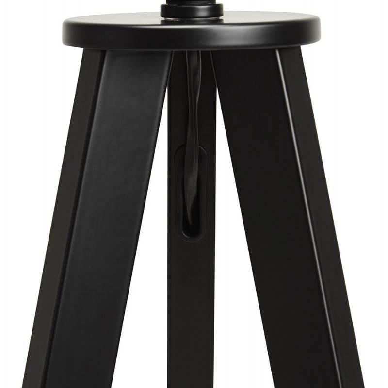 Scandinavian style TRANI (black) fabric floor lamp - image 23065