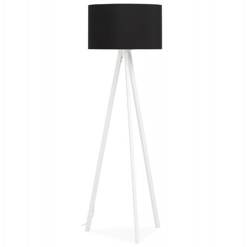 Lamp foot of Scandinavian style TRANI in fabric (black, white)