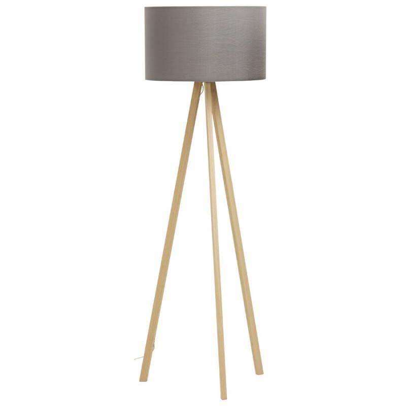 Lampe sur pied de style scandinave TRANI en tissu (gris, naturel) - image 23119