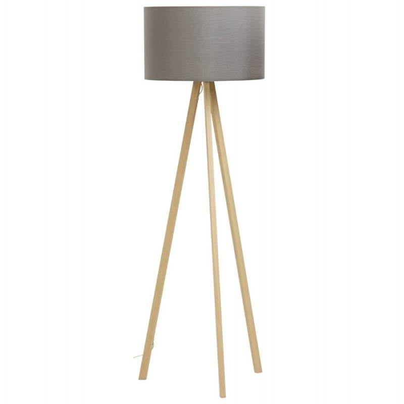 Lámpara de piso de tela de estilo escandinavo TRANI (gris, natural) - image 23119