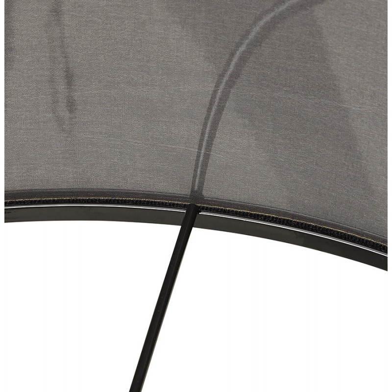 Lampe sur pied de style scandinave TRANI en tissu (gris, naturel) - image 23126