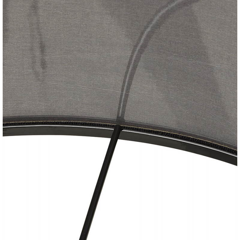 Scandinavian style TRANI (grey, natural) fabric floor lamp - image 23126
