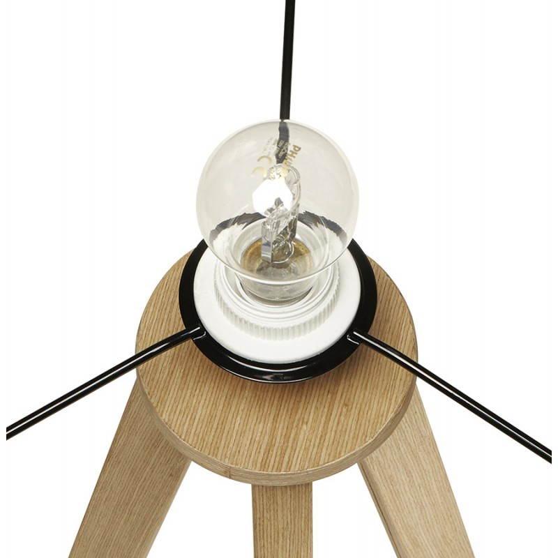 Lampe sur pied de style scandinave TRANI en tissu (gris, naturel) - image 23128