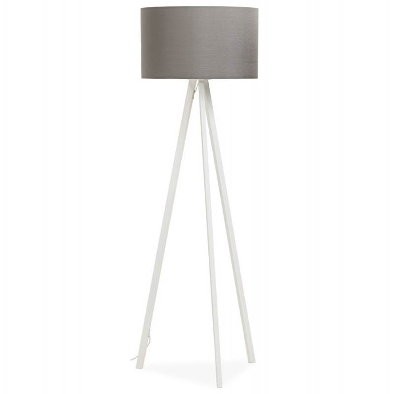 Scandinavian style TRANI in fabric (grey, white) floor lamp - image 23136