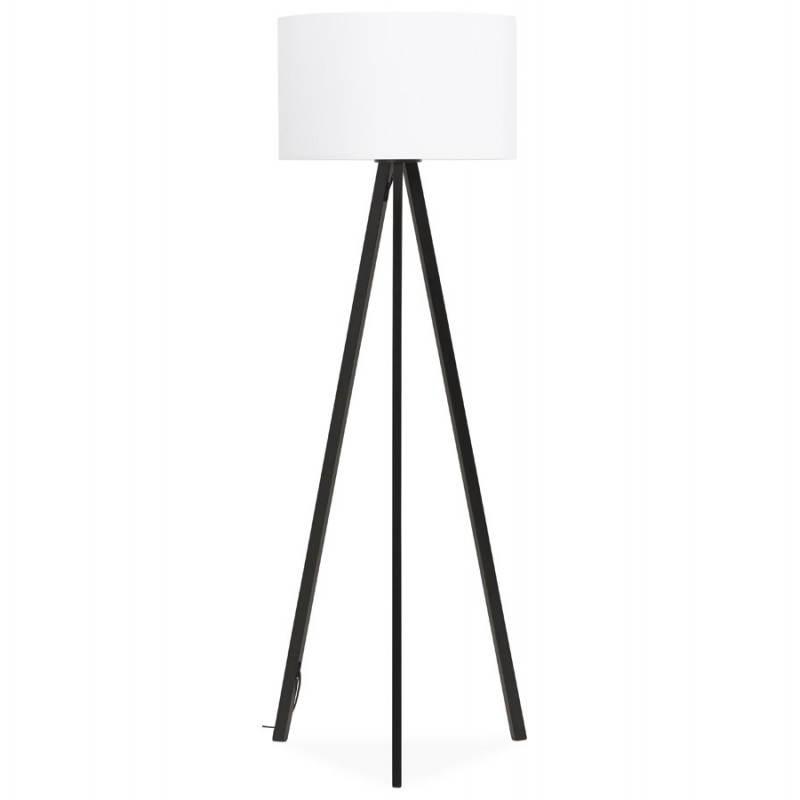 Lampe sur pied de style scandinave TRANI en tissu (blanc, noir) - image 23153