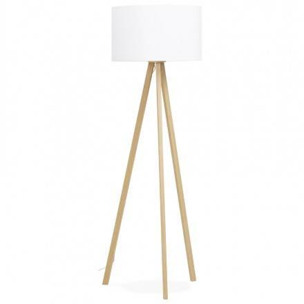 Lampe sur pied de style scandinave TRANI en tissu (blanc, naturel)