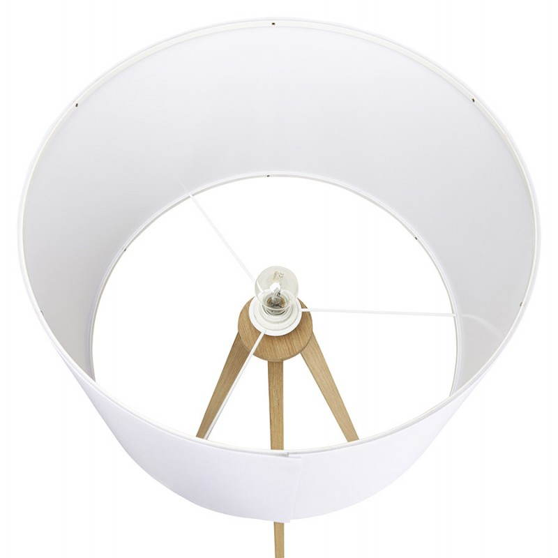 Scandinavian style TRANI (white, natural) fabric floor lamp - image 23176
