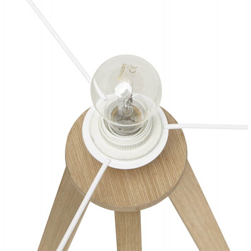 Scandinavian style TRANI (white, natural) fabric floor lamp - image 23177