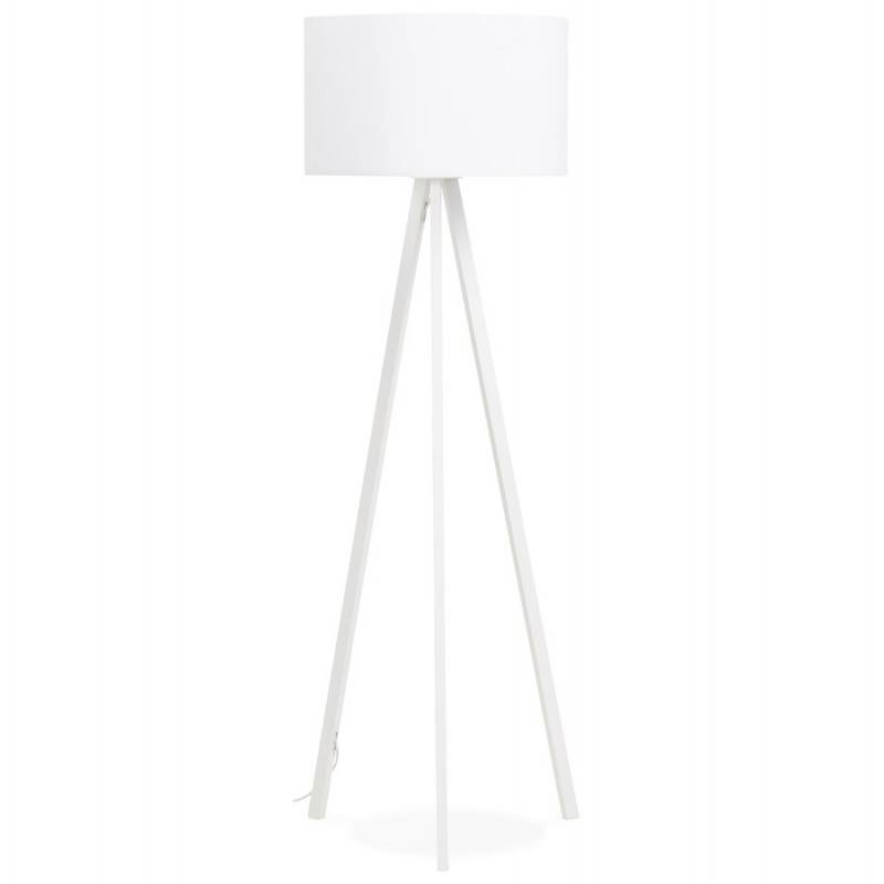 Lampe sur pied de style scandinave TRANI en tissu (blanc) - image 23185