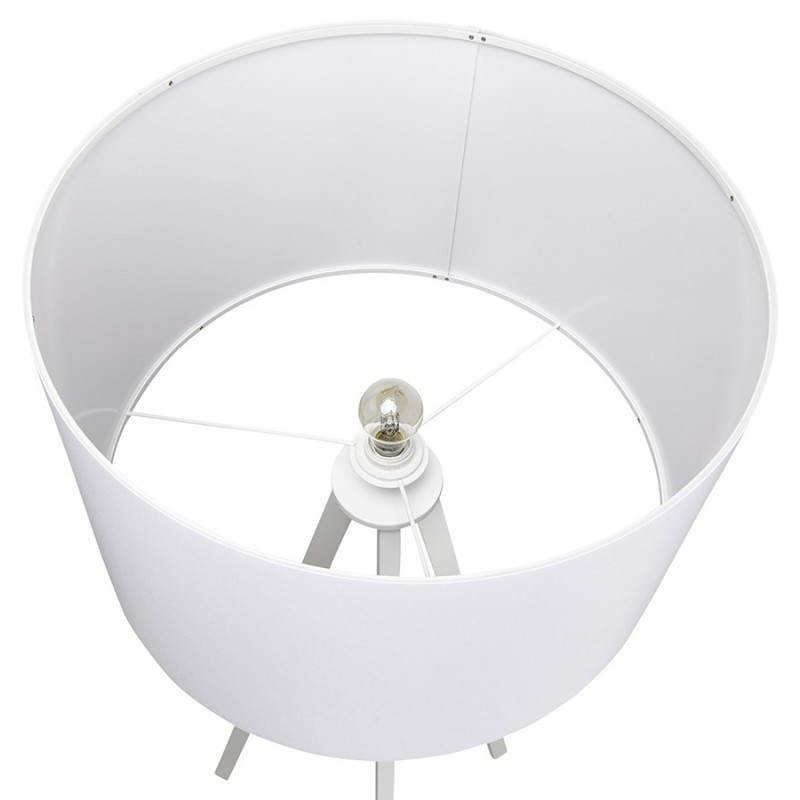lampe sur pied de style scandinave trani en tissu blanc. Black Bedroom Furniture Sets. Home Design Ideas