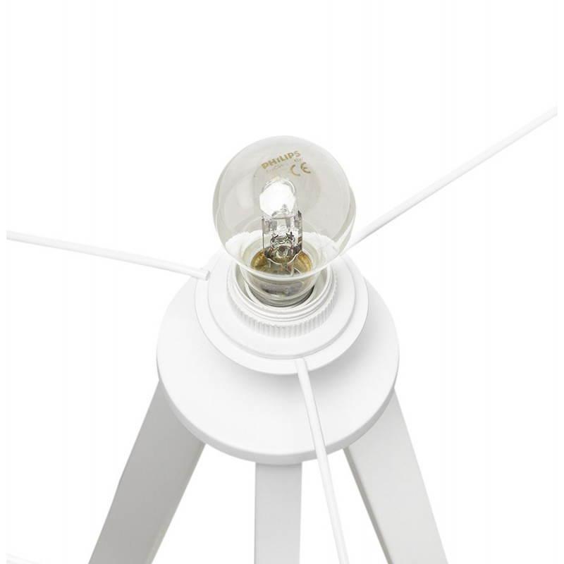 Lampe sur pied de style scandinave TRANI en tissu (blanc) - image 23193