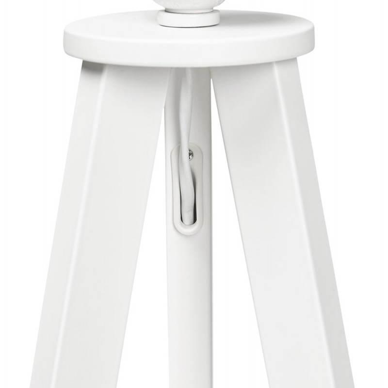 Lampe sur pied de style scandinave TRANI en tissu (blanc) - image 23194