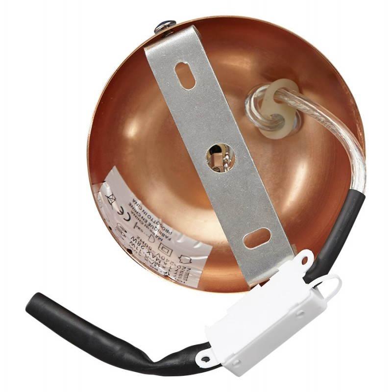 Retro hanging lamp Pavia in metal (copper) - image 23207