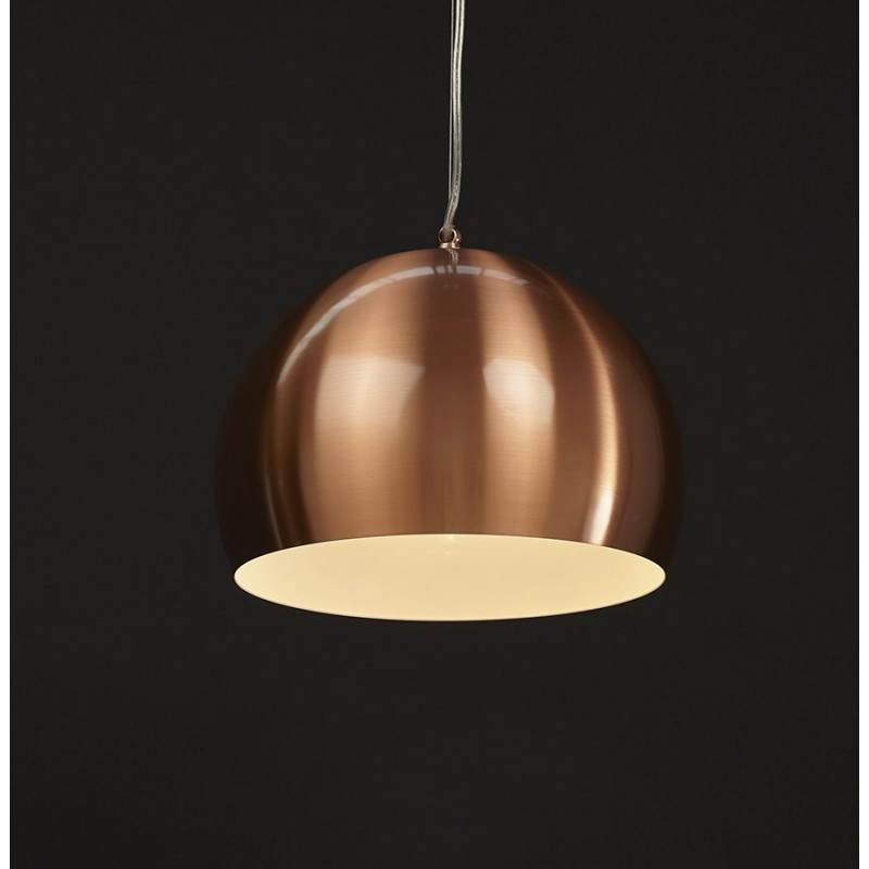Retro colgante Lámpara Pavía en metal (cobre) - image 23208