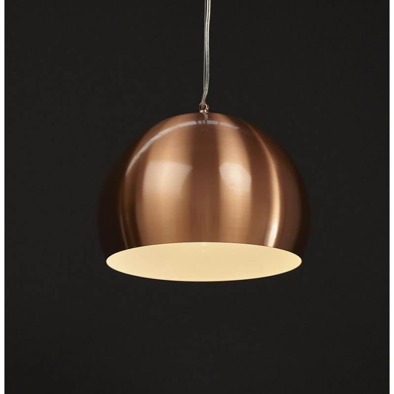 Retro hanging lamp Pavia in metal (copper) - image 23208