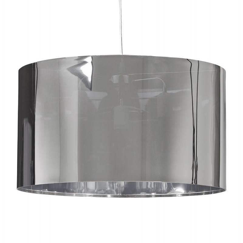 Lampe suspendue forme cylindrique LATIN (chromé)