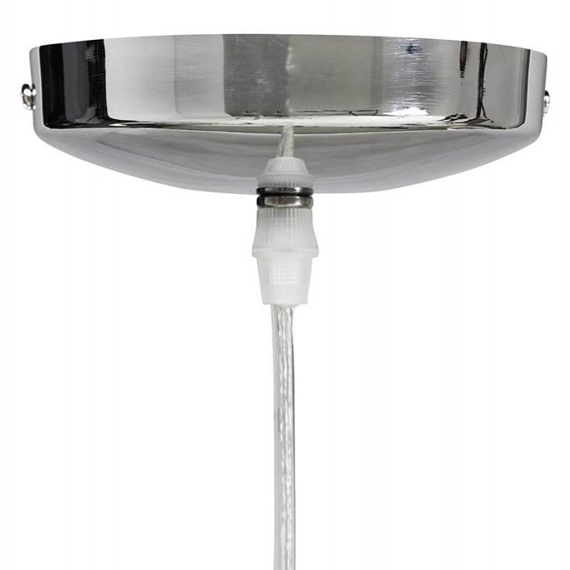 Lampe suspendue forme cylindrique LATIN (chromé) - image 23236