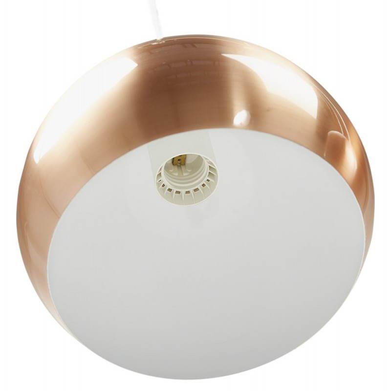 Lampe suspendue rétro 3 boules POUILLES en métal (cuivre) - image 23242