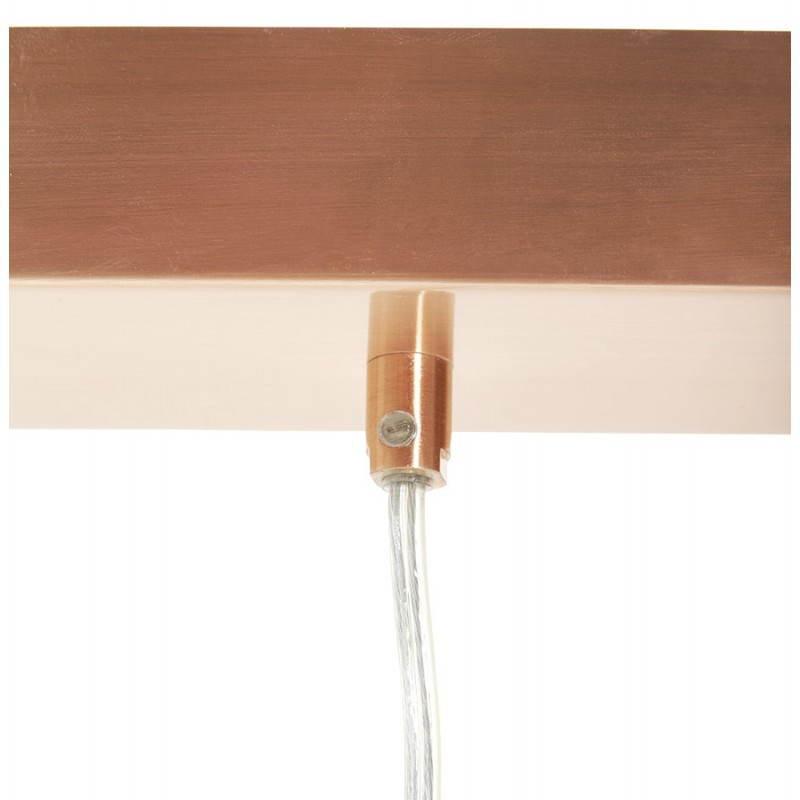 Lampe suspendue rétro 3 boules POUILLES en métal (cuivre) - image 23246