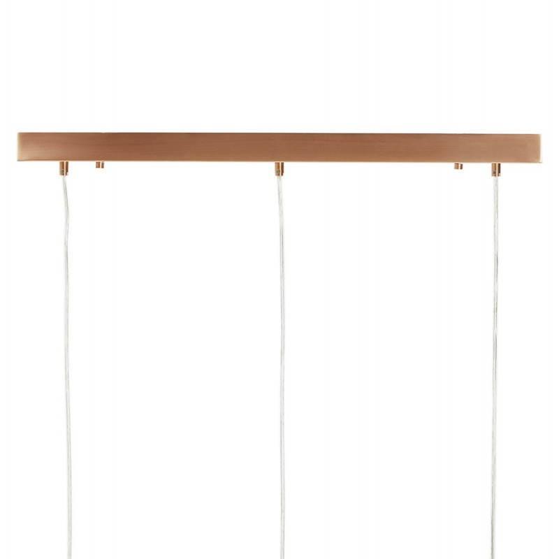 Lampe suspendue rétro 3 boules POUILLES en métal (cuivre) - image 23247