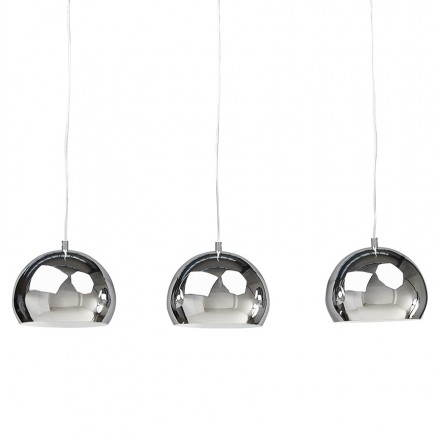 Suspended lamp retro 3 balls PUGLIA (chromed)