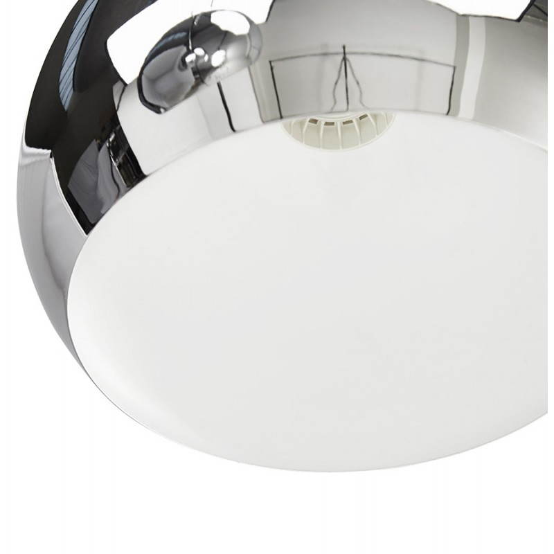 Lampe suspendue rétro 3 boules POUILLES en métal (chromé) - image 23254