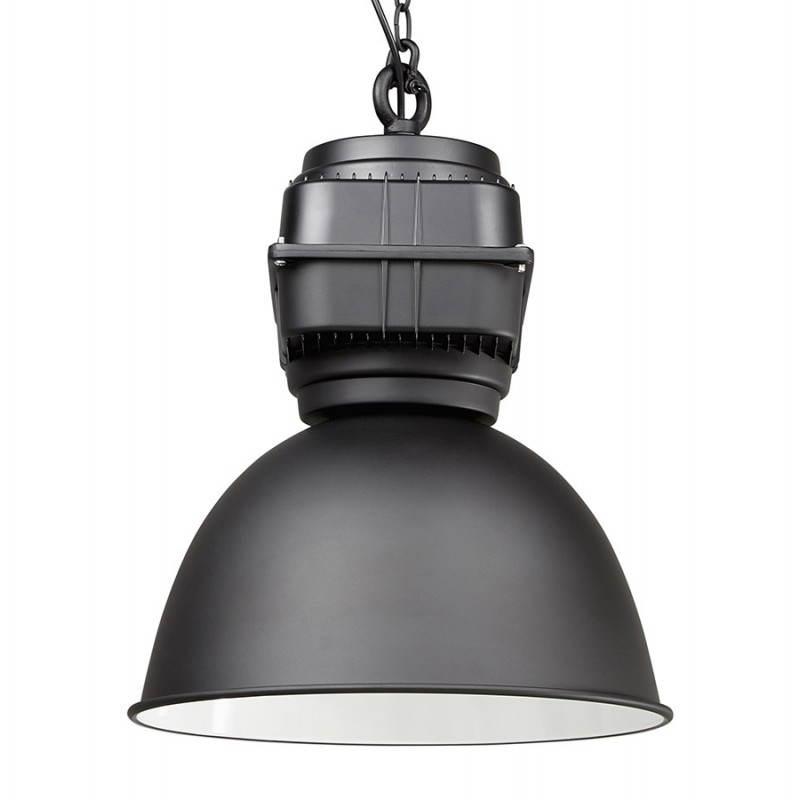 Lampe suspendue industrielle SAVONE en métal (noir mat) - image 23281