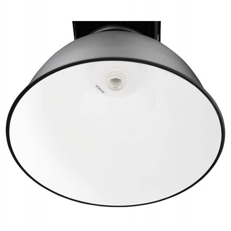 Lampe suspendue industrielle SAVONE en métal (noir mat) - image 23282