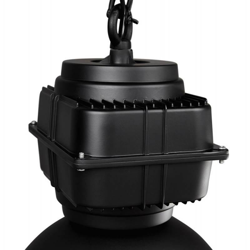 Lampe suspendue industrielle SAVONE en métal (noir mat) - image 23286