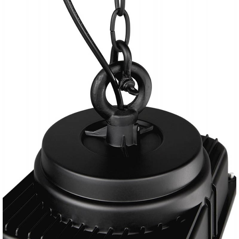 Lampe suspendue industrielle SAVONE en métal (noir mat) - image 23288