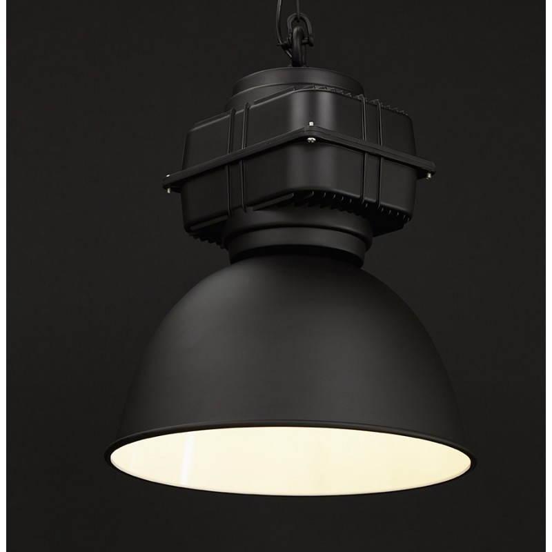 Lampe suspendue industrielle SAVONE en métal (noir mat) - image 23291