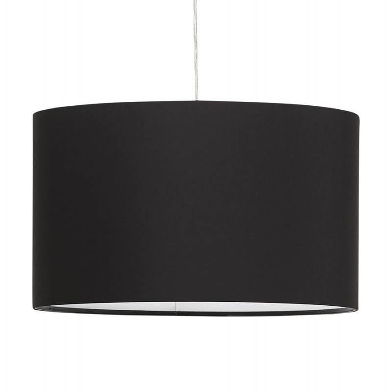 Lampe suspendue LATIUM en tissu (noir)