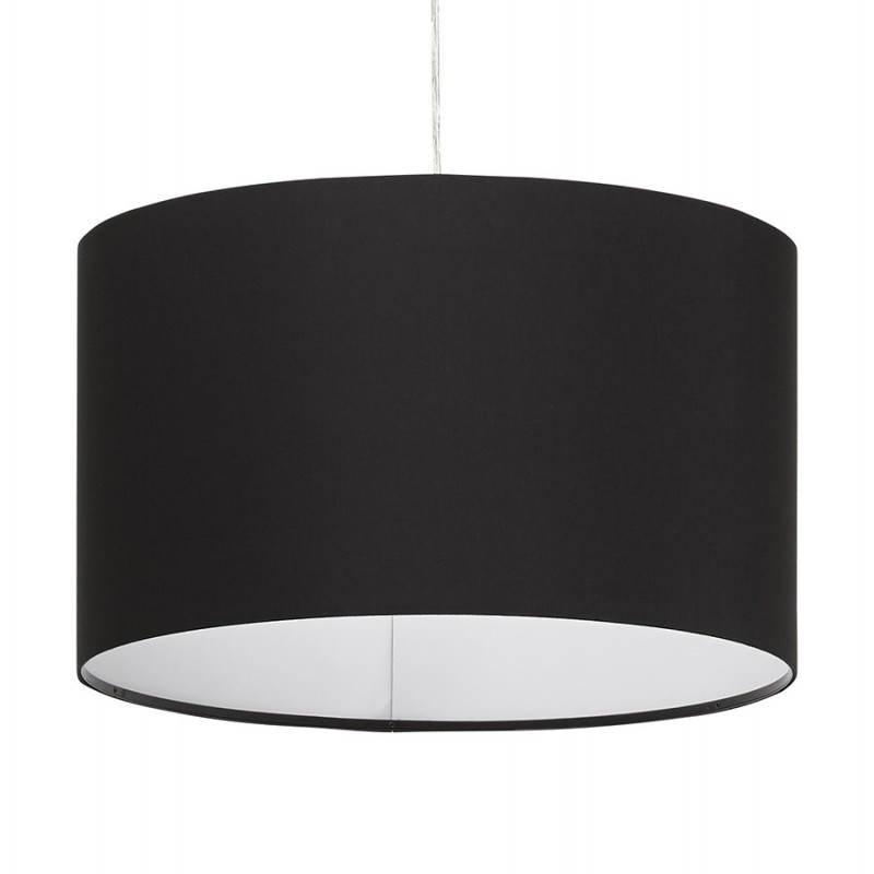 Lampe suspendue LATIUM en tissu (noir) - image 23308