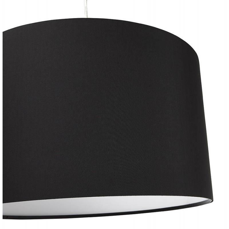 Lampe suspendue LATIUM en tissu (noir) - image 23309