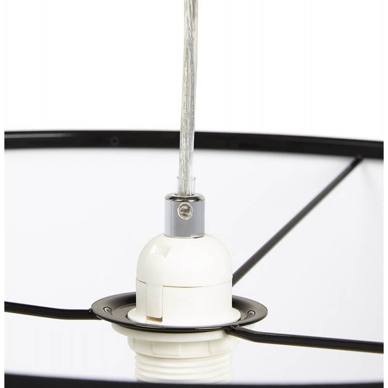 Lampe suspendue LATIUM en tissu (noir) - image 23316