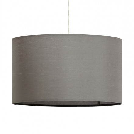 Suspended lamp LAZIO (grey) fabric