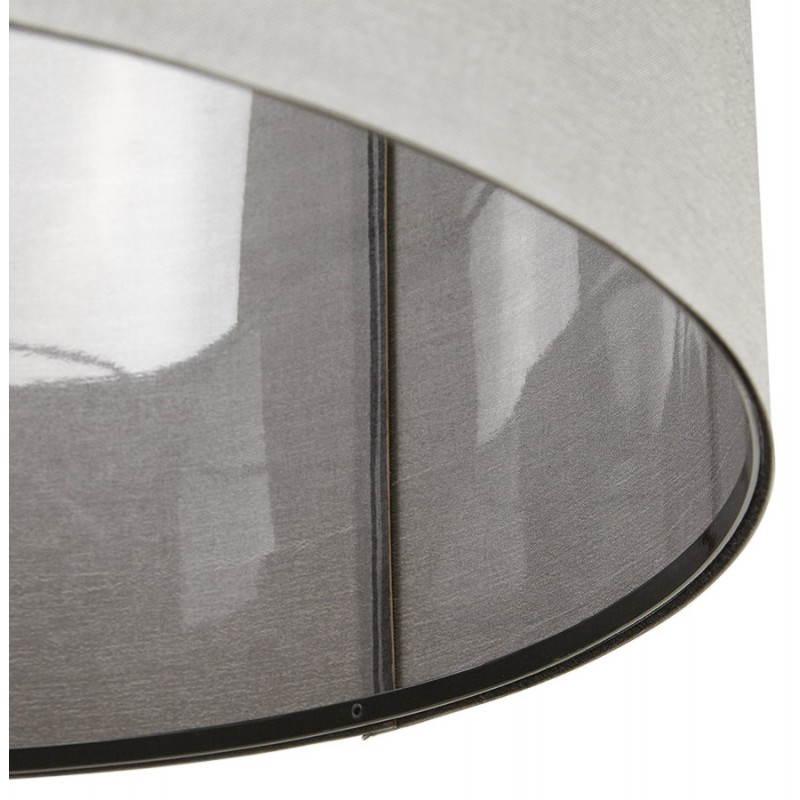 Lampe suspendue LATIUM en tissu (gris) - image 23325