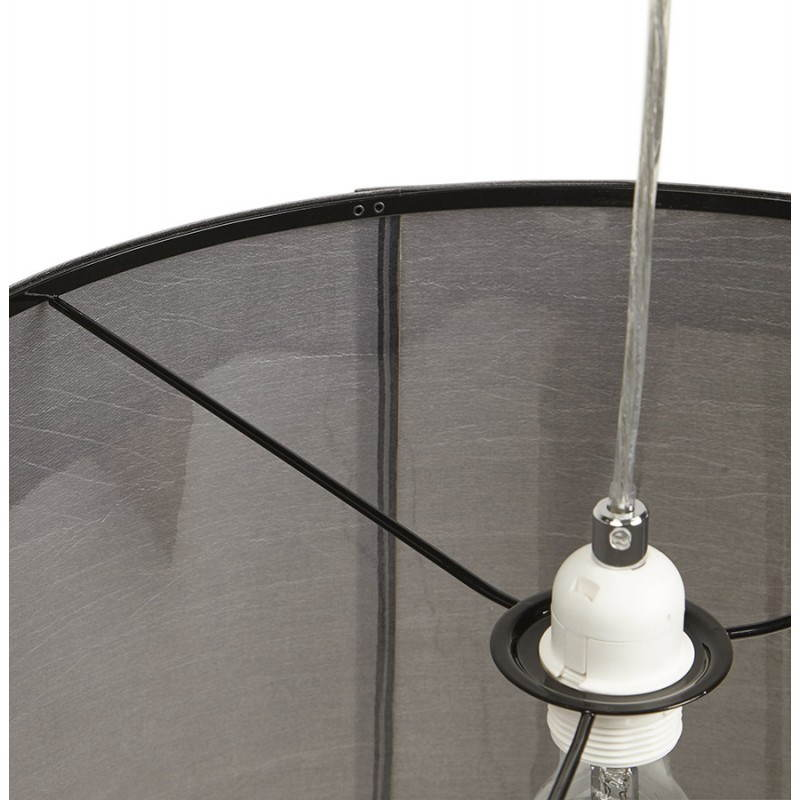 Lampe suspendue LATIUM en tissu (gris) - image 23326
