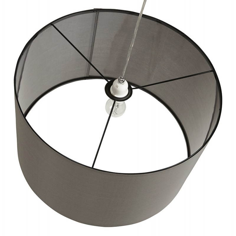 Lampe suspendue LATIUM en tissu (gris) - image 23327