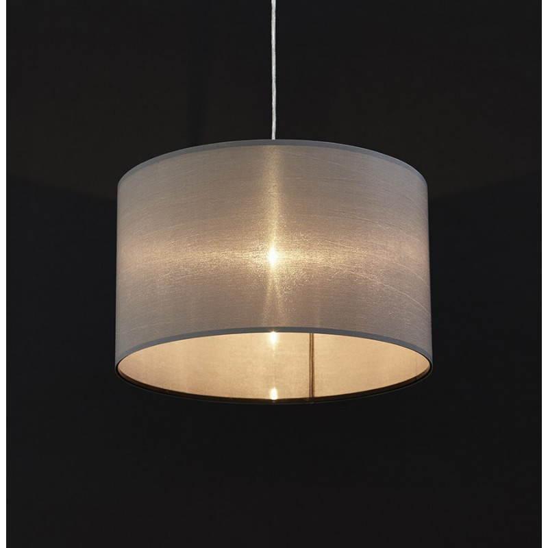 Lampe suspendue LATIUM en tissu (gris) - image 23330