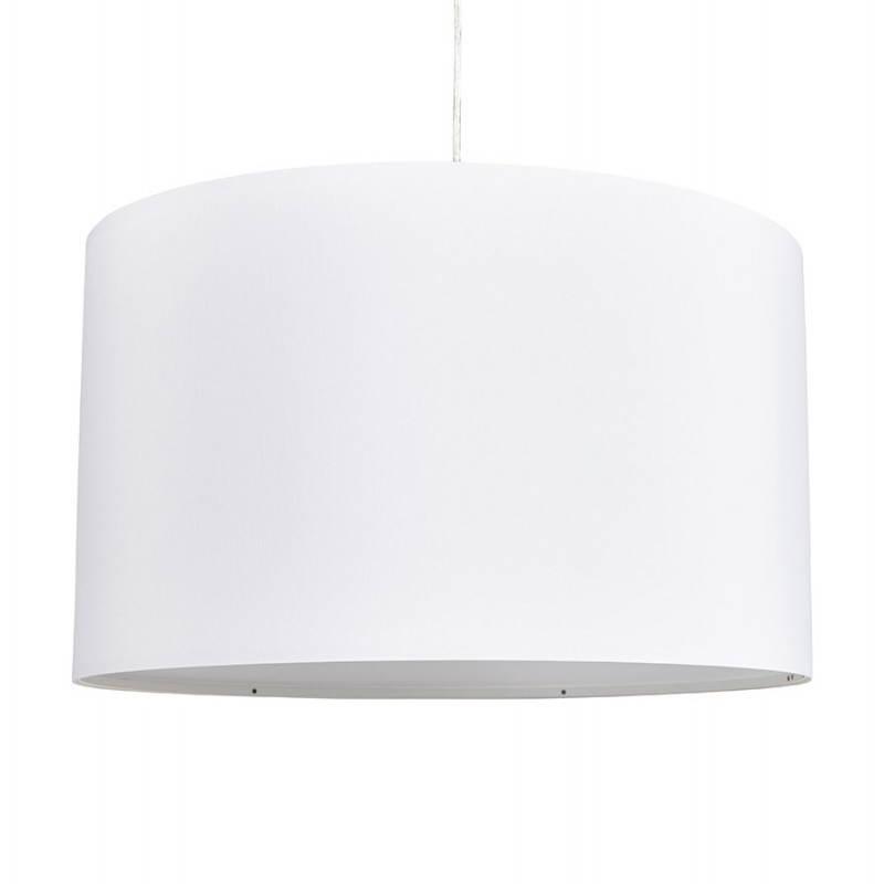 Lampe suspendue LATIUM en tissu (blanc) - image 23333