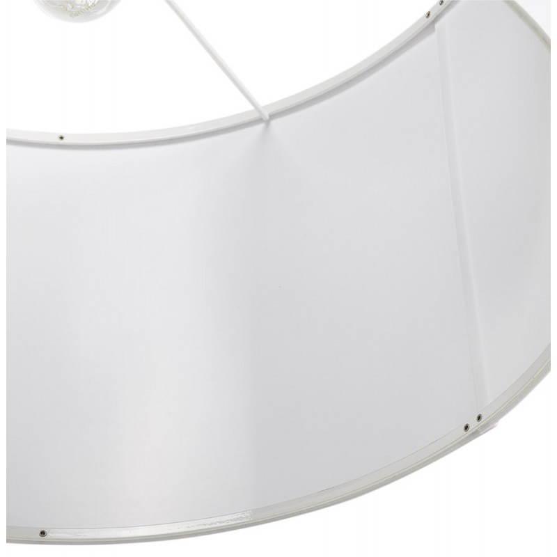 Lampe suspendue LATIUM en tissu (blanc) - image 23336