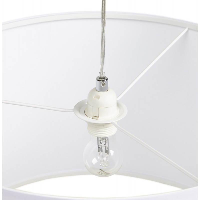 Lampe suspendue LATIUM en tissu (blanc) - image 23339
