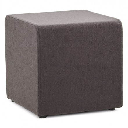 pouffe square barilla fabric dark grey. Black Bedroom Furniture Sets. Home Design Ideas