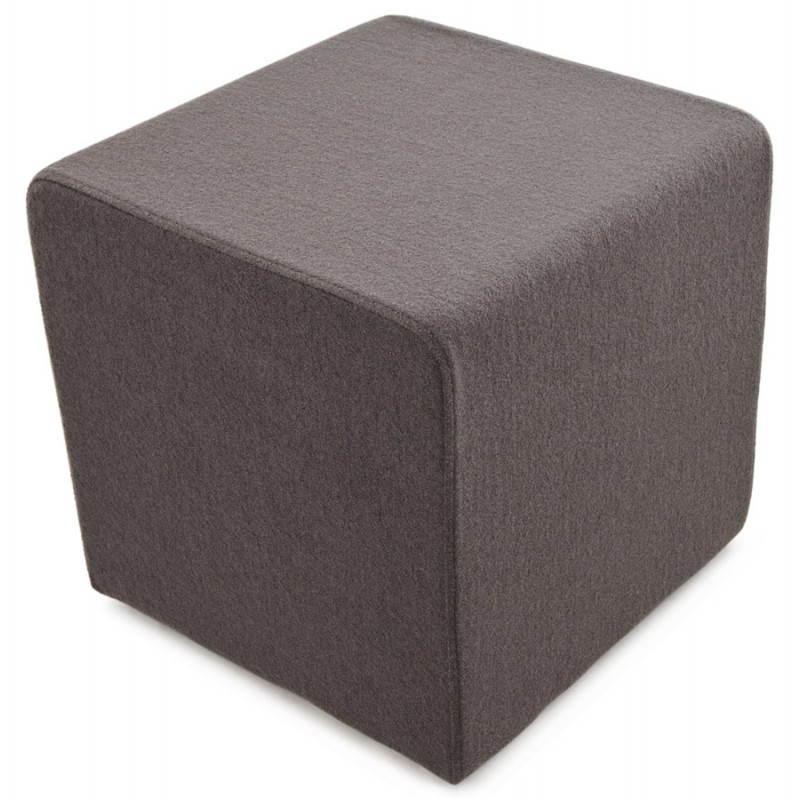 Pouf carré BARILLA en tissu (gris foncé) - image 23347