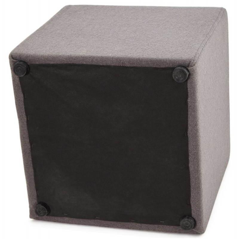 Pouf carré BARILLA en tissu (gris foncé) - image 23348