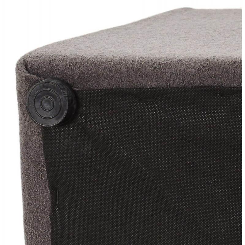 Pouf carré BARILLA en tissu (gris foncé) - image 23349