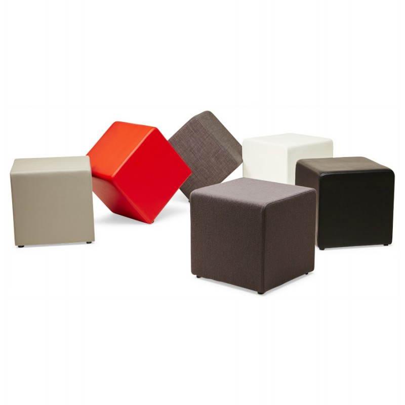 Pouf carré BARILLA en tissu (gris foncé) - image 23350